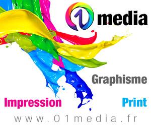 Création graphique et impression de tous documents - Agence 01media