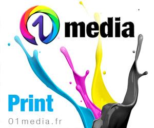 Services Print 01media : illustration, création graphique sur mesure et impression tous supports